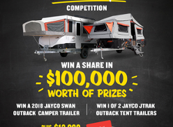 Win a share of $100,000 worth of prizes