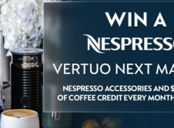 Win 1 of 10 Daily Prizes of a Nespresso Coffee Machine Bundle