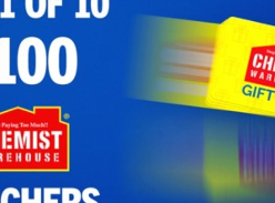Win 1 of 10 $100 Chemist Warehouse Gift Cards