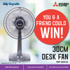 Win a 30CM Desk Fan