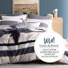 Win a Logan and Mason Hugo Stone Queen Quilt Cover