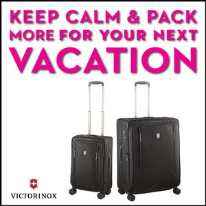 Win two Victorinox suitcases