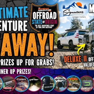 Win a Signature Campers Deluxe 2 Camper Trailer or 1 of 13 Minor Prizes