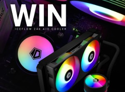 Win an ID-Cooling IceFlow 240 Addressable RGB AIO CPU Liquid Cooler
