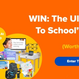 Win 1 of 3 Back to School Prizes