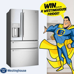 Win a Westinghouse WHE7074SA 702L French door Fridge