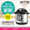 Win a Kambrook Pressure Express Digital Multi Cooker