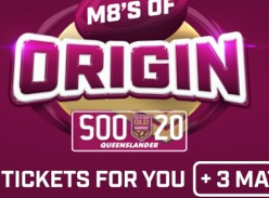 Win State of Origin tickets for you + 3 mates!
