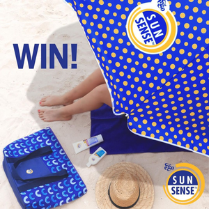 Win $200 worth of SunSense sunscreen, a Beach Umbrella & Cooler Bag
