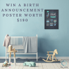 Win a Birth Announcement Poster from Box and Circle