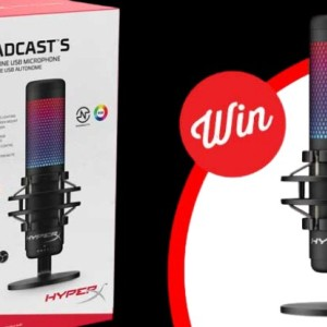 Win a HyperX Quadcast S RGB USB Condenser Gaming Microphone