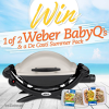 Win 1 of 2 Weber BabyQ's and a De Costi Summer Pack