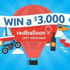 Win 1 x $3,000 RedBalloon Gift Voucher.