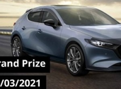 Win a Mazda 3 G20 Pure 5-Door Hatch or 1 of 10 Weekly Prizes