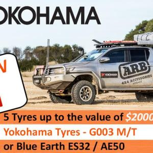 Win $2,000 worth of Yokohama Tyres