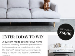 Win a custom made Sofa!