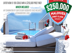 Win a $250,000 Maldives First Class Holiday