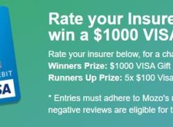 Win a $1000 VISA Gift Card