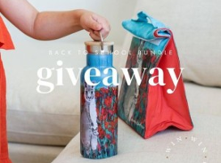 Win 1 of 3 Back To School Bundles including a steel bottle and a lunch bag