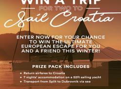 Win a trip for two to Sail Croatia