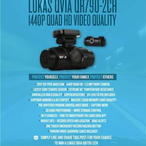 Win 1 of 3 Lukas QVIA Dash Cams