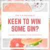 Win a Bottle of Gin of Choice