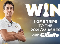 Win 1 of 5 trips to 2021/22 Ashes!