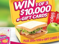 Win 1 of 3 $10,000 e-Gift Cards