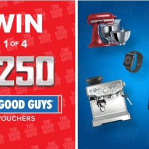 Win 1 of 4 $250 The Good Guys Vouchers