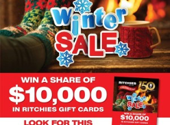 Win a share of $10,000 in gift cards!