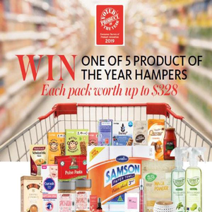 Win 1 of 5 Product of the Year Hampers