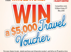 Win a $5000 Travel Voucher