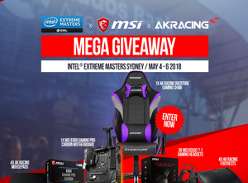 Win an AK Racing Overture Gaming Chair Bundle or Runner-up Prizes