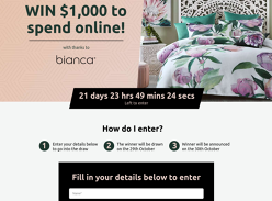 Win $1,000 Worth of Bedding Products