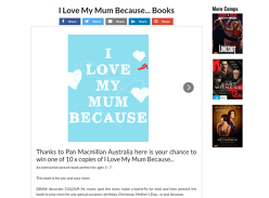 Win 1/10 I Love My Mum Because... Books