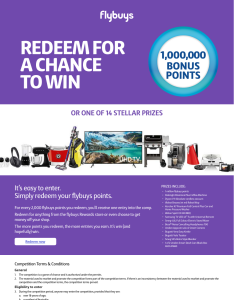 Win 1 Million Bonus Points or 1 of 14 Prizes!