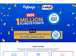 Win 1 Million Flybuys points + 1 of 10 10,000 Flybuys points!