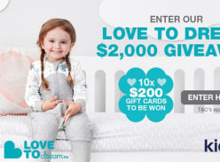 Win 1 of 10 $200 Love to Dream Vouchers