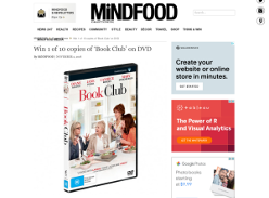 Win 1 of 10 copies of 'Book Club' on DVD