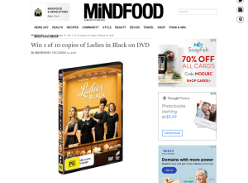 Win 1 of 10 copies of Ladies in Black on DVD