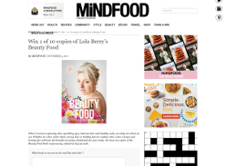 Win 1 of 10 copies of Lola Berry's Beauty Food