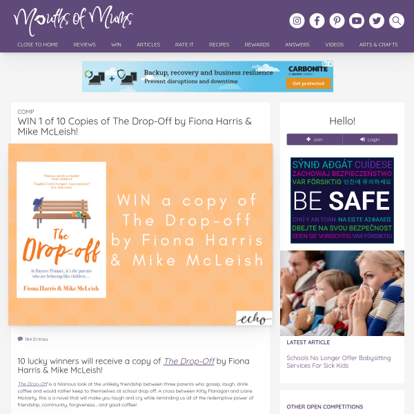 WIN 1 Of 10 Copies Of The Drop-Off By Fiona Harris & Mike McLeish!