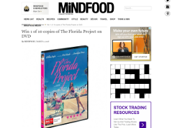 Win 1 of 10 copies of The Florida Project on DVD