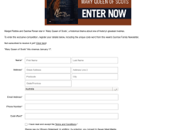 Win 1 of 10 double pass to Mary Queen of Scots