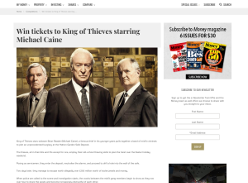 Win 1 of 10 Double Passes to King of Thieves