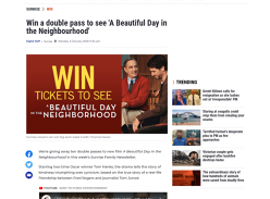 Win 1 of 10 double passes to see A Beautiful Day in the Neighbourhood!