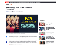 Win 1 of 10 double passes to see Bombshell!