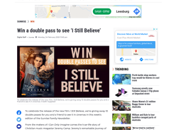 Win 1 of 10 double passes to see I Still Believe!