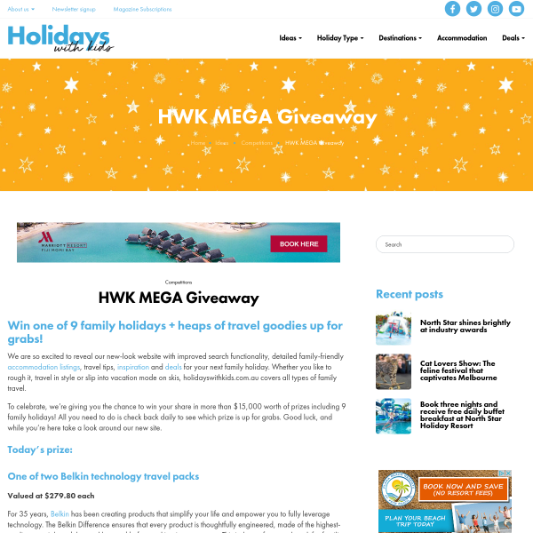 Win 1 of 10 Family Holidays & More