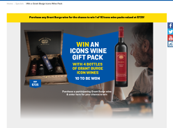 Win 1 of 10 Grant Burge Icons Wine Packs!